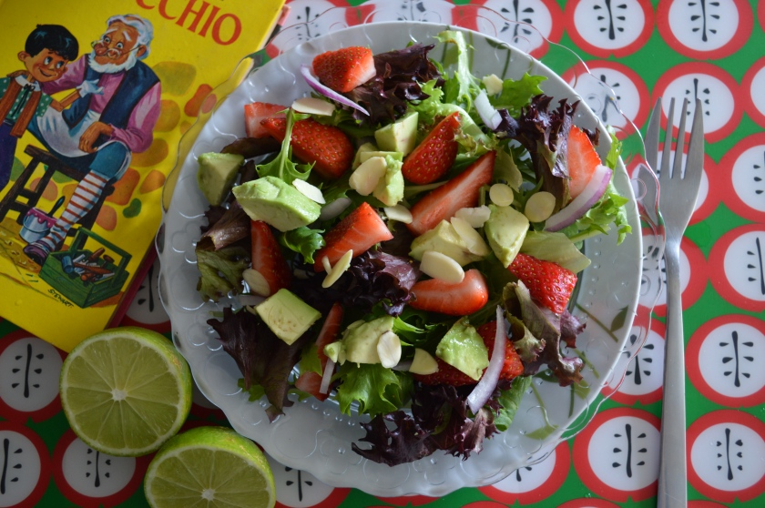 Strawberry and avo salad
