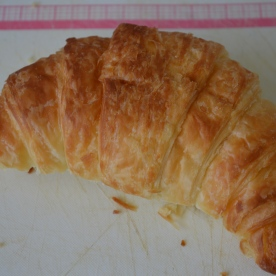 Grab a nice buttery croissant and cut in half