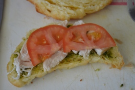 Add some fresh tomato slices.