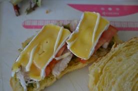 Put some mayonnaise on top (I use Japanese mayo, or Kewpie)