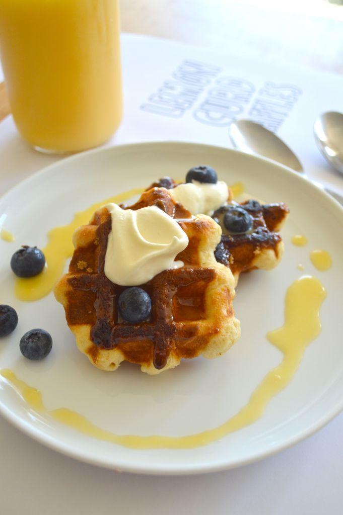 Lemon curd waffles